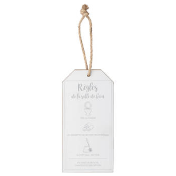 Bathroom Rules Door Hanger