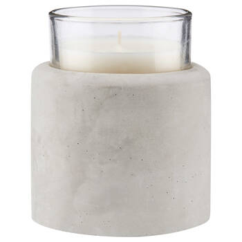 Cement and Glass Candle