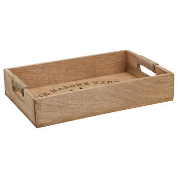 Christmas Trees Wood Tray