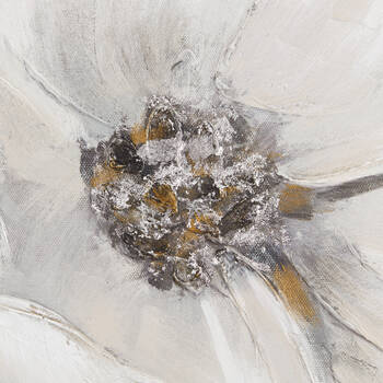 White Blossom Printed Canvas with Gel-Embellishments