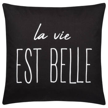 "Life Water-Repellent Decorative Pillow 18"" X 18"""