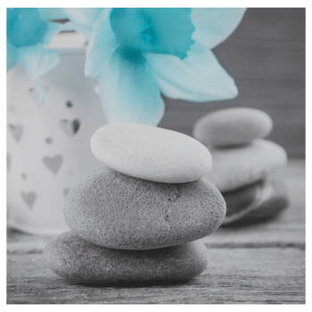 Stacked Rocks Printed Canvas