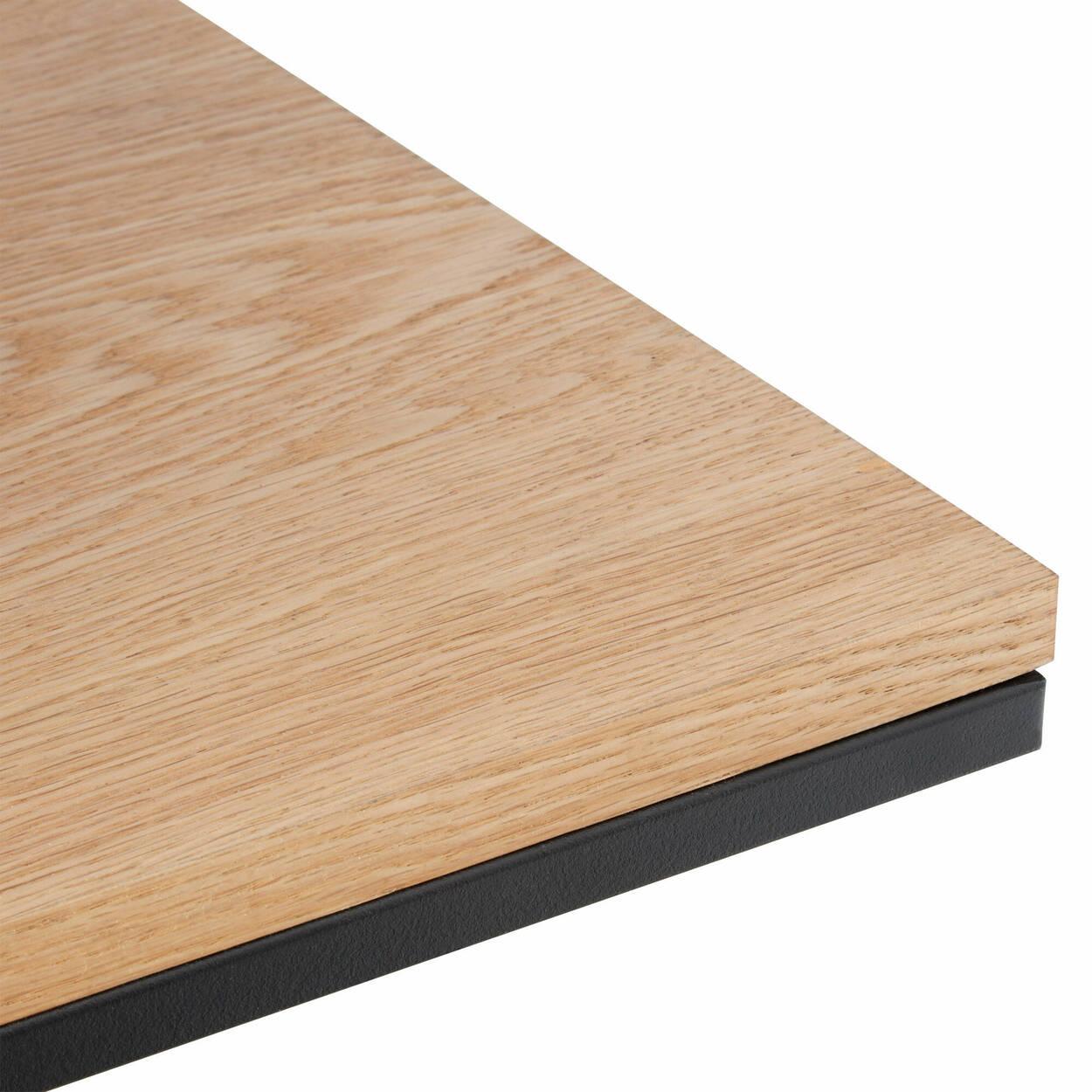 Étagère en bois naturel et en métal