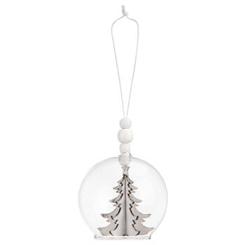 3D Tree Glass Ornament