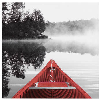 Misty Lake Printed Canvas