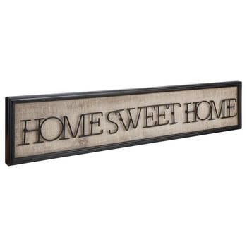Art mural en métal Home Sweet Home
