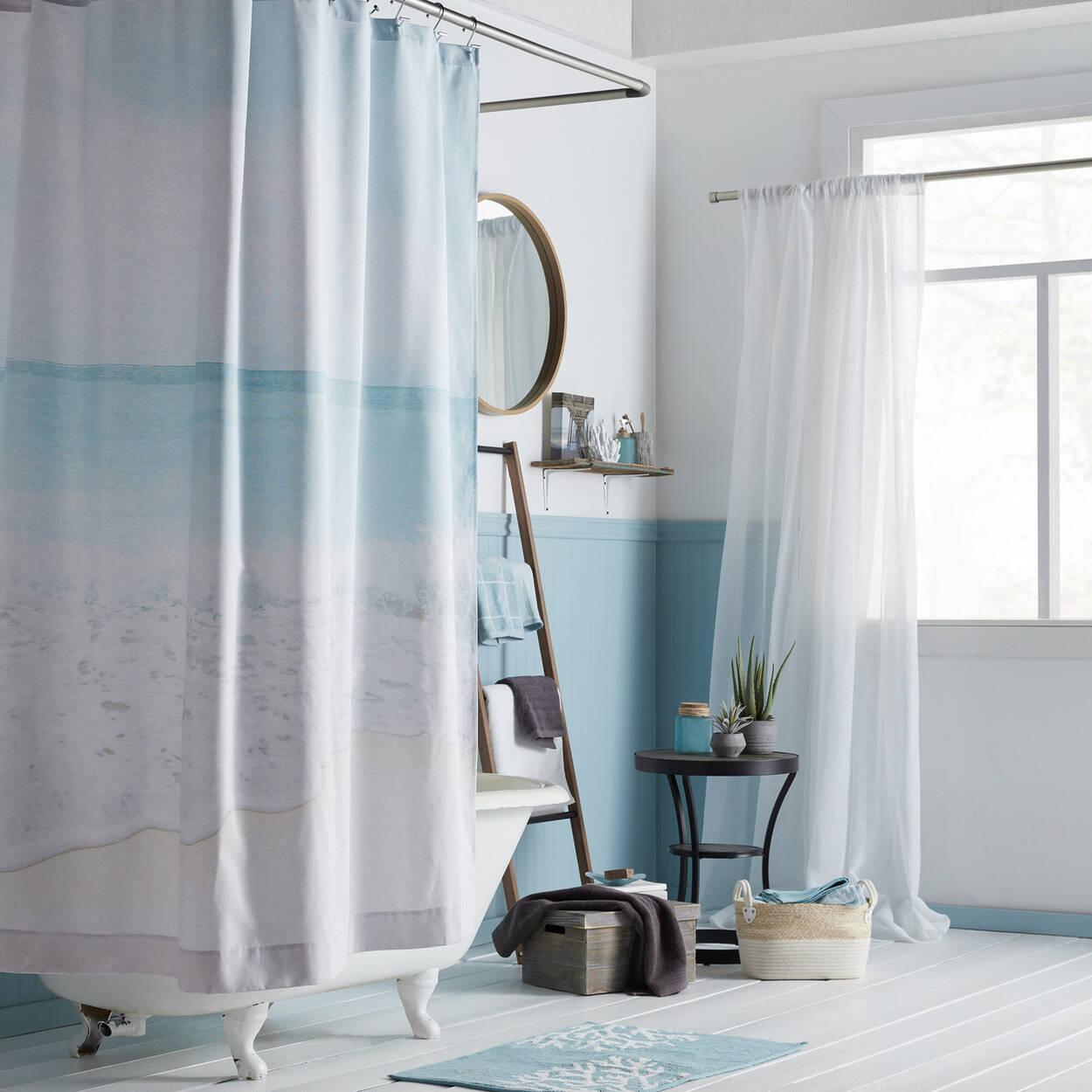 Rideau de douche plage