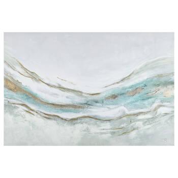 Gel-Embellished Printed Canvas
