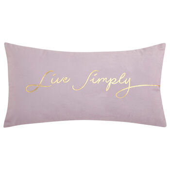 "Live Simply Decorative Lumbar Pillow 11"" X 21"""