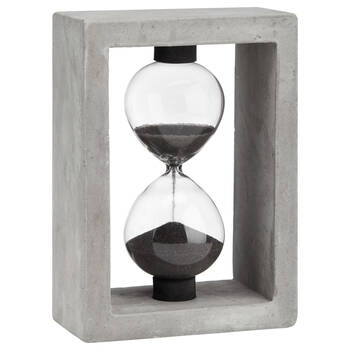 Decorative Hourglass with Cement Frame