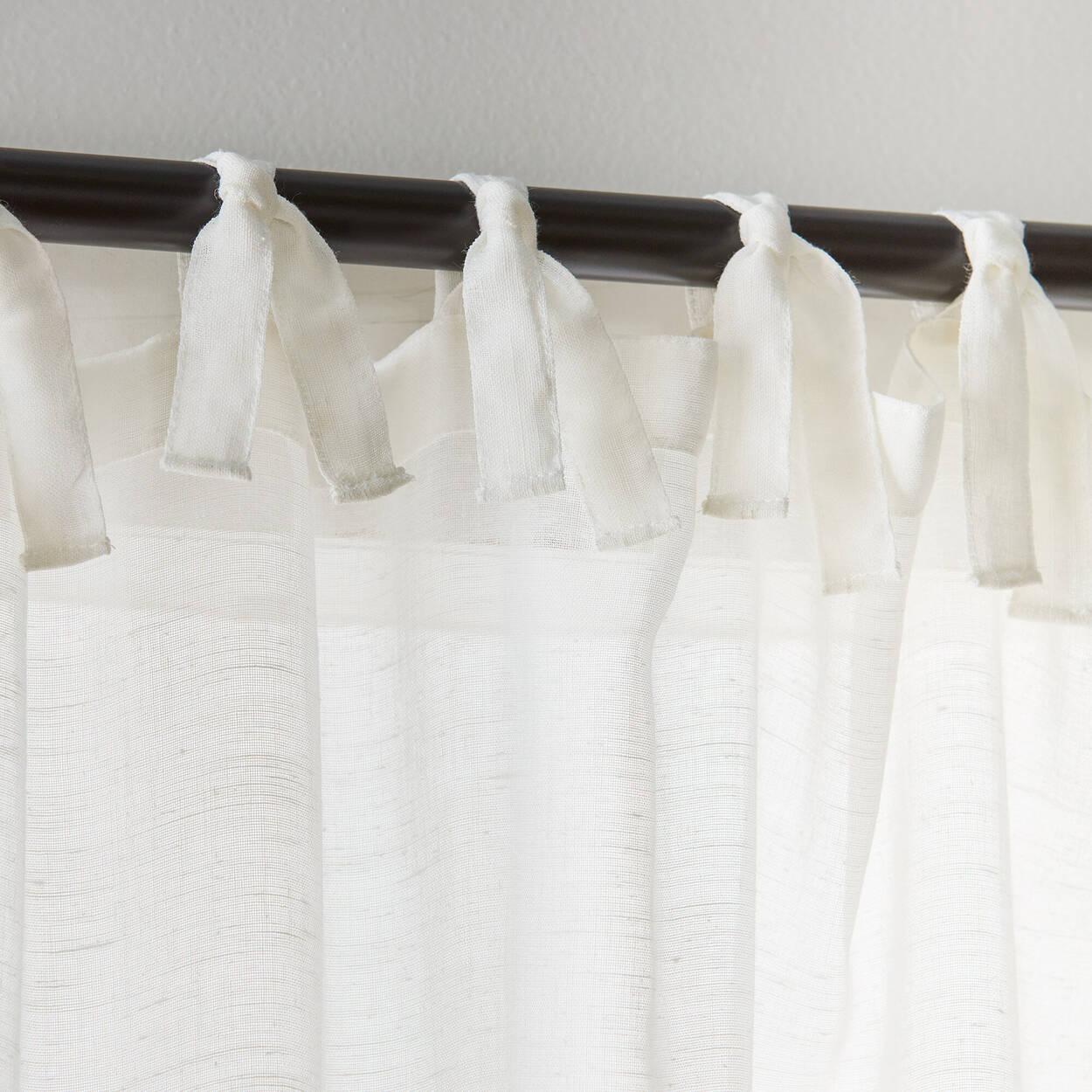 Jessica Tie Top Sheer Curtain