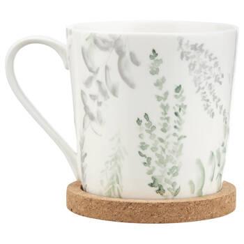 Ceramic Mug With Cork Coaster