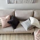 "Lali Faux Fur Decorative Pillow 19"" X 19"""
