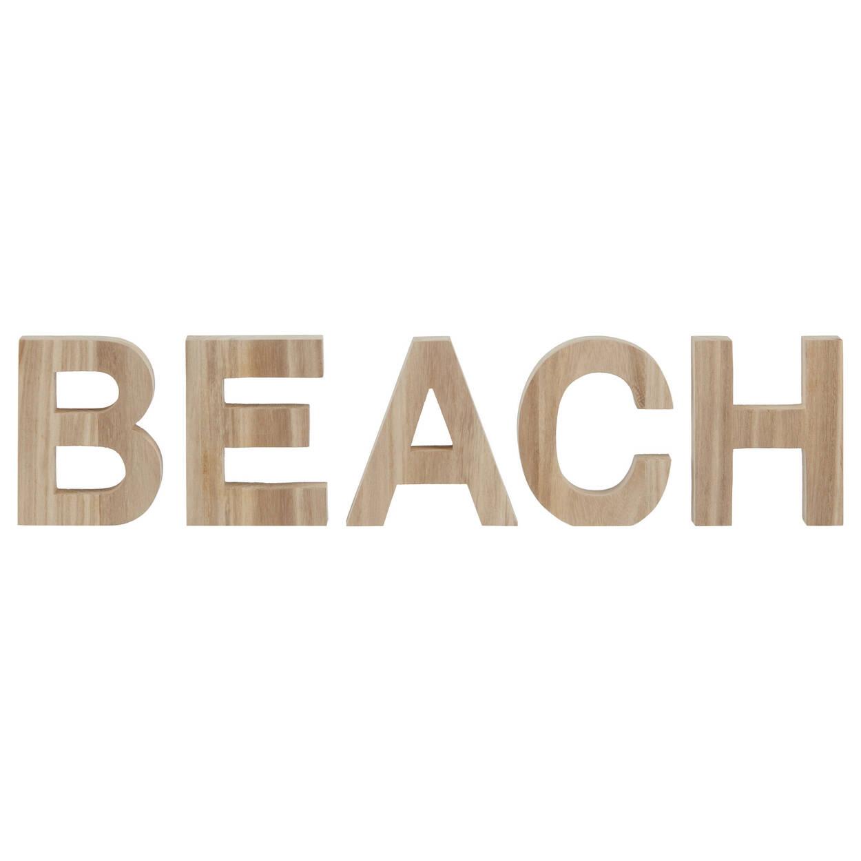 Mot décoratif Beach en bois