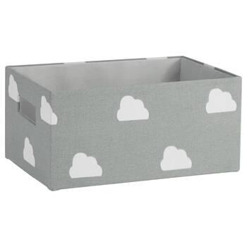 Petit panier de rangement à motif de nuages