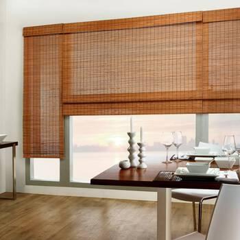 Cordless Tahiti Bamboo Roman Shade