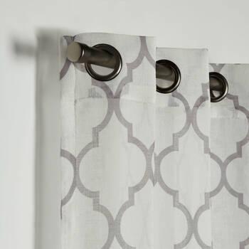 Rideau semi-transparent Baroque