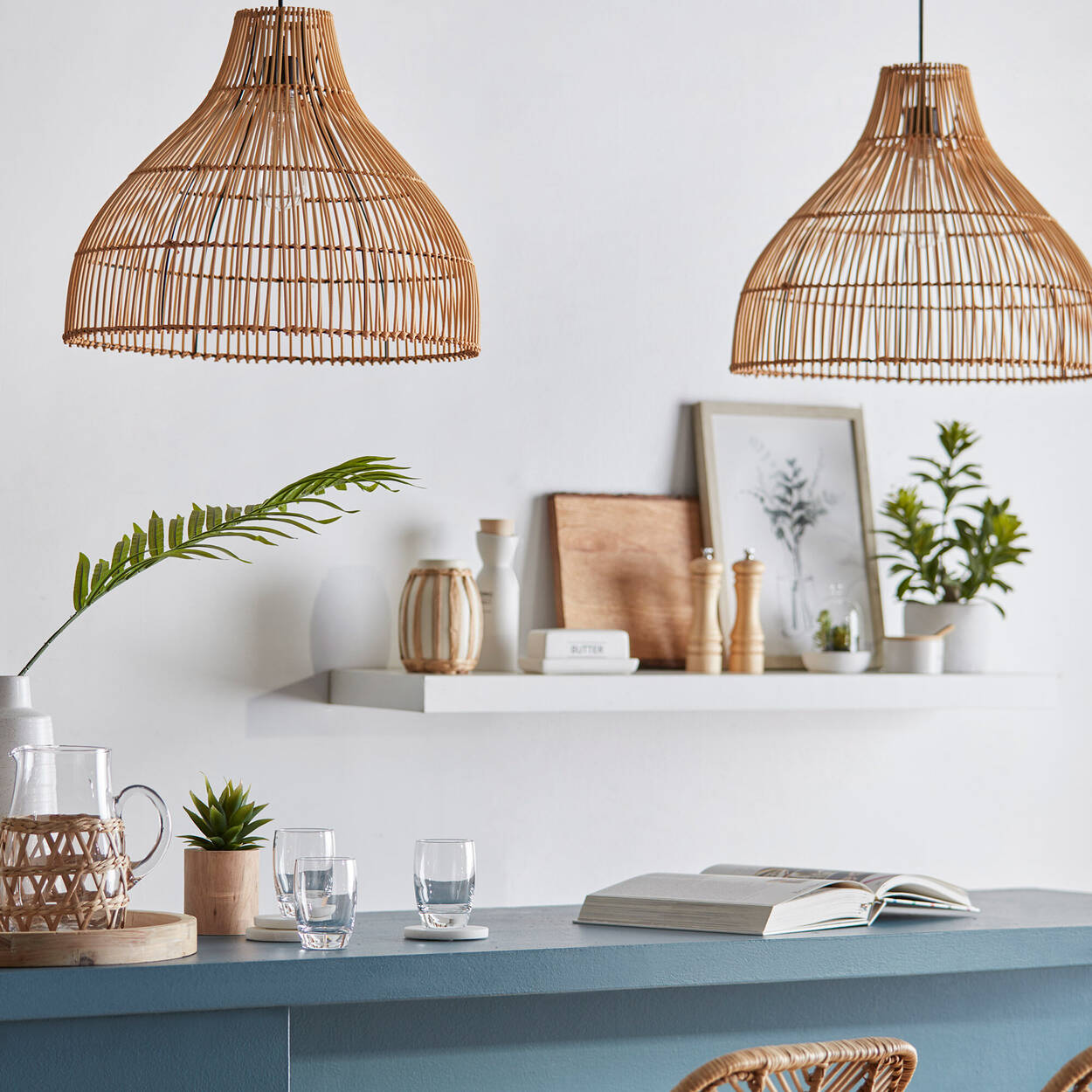 Rattan Natural Ceiling Lamp
