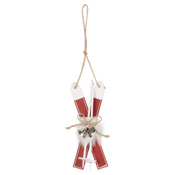Wooden Skis Ornament