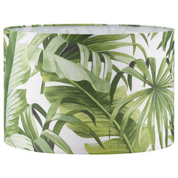 Round Tropical Leaves Lamp Shade