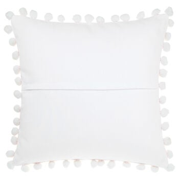 "Nooma Decorative Pillow with Pom-Poms 18"" X 18"""