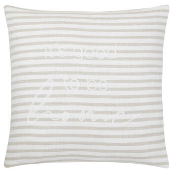 """Coussin décoratif Zoja It's Good to be Home 19"""" x 19"""""""