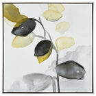 Framed Gel-Embellished Floral Watercolour Printed Canvas