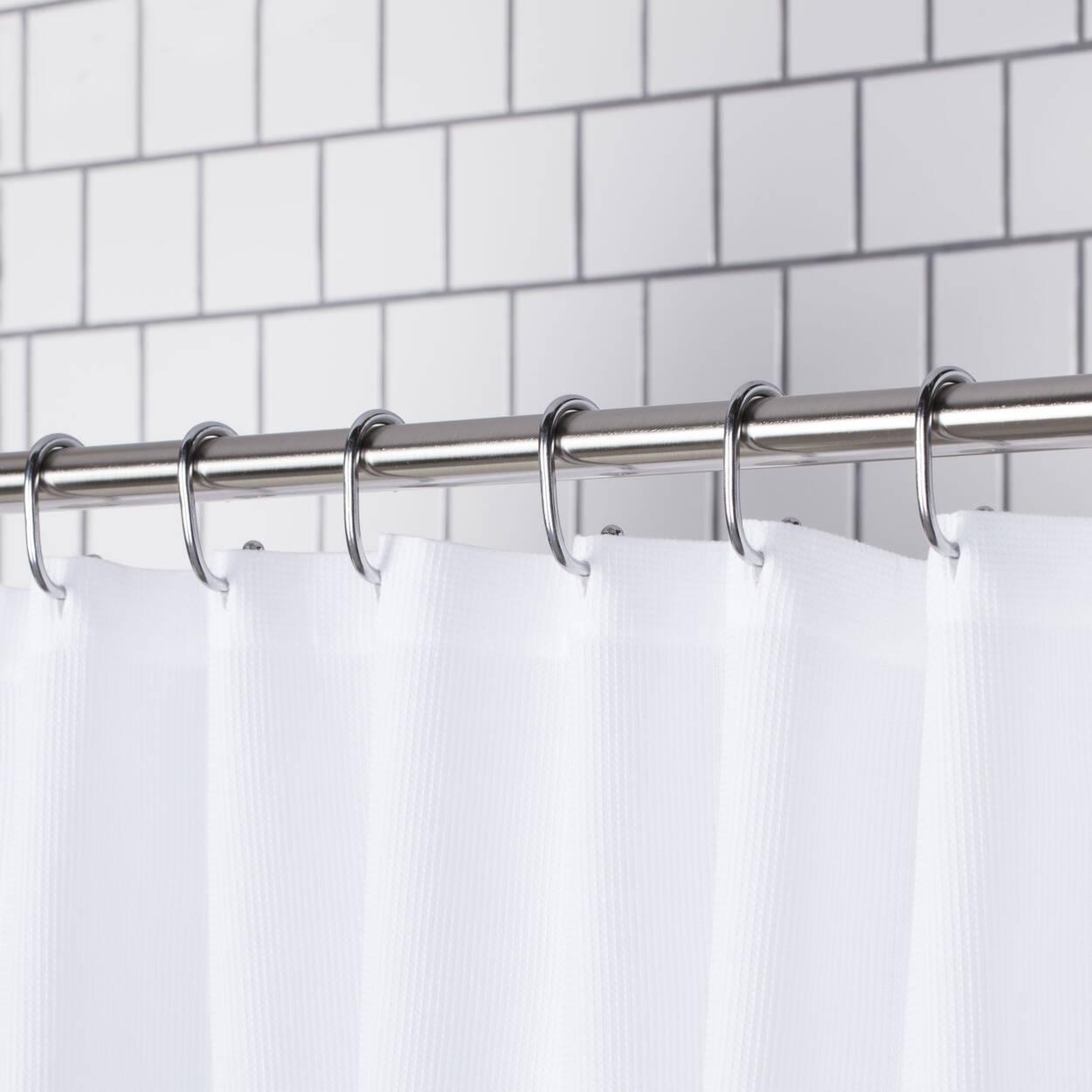 Ensemble de 12 crochets pour rideau de douche for Bain et douche ensemble