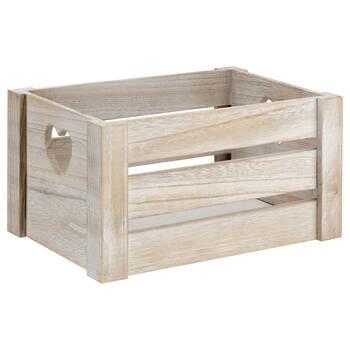 Petite caisse en bois avec poignées en coeur