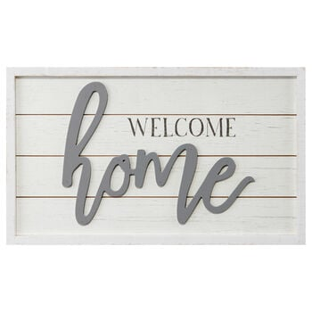 Framed Wooden Art Welcome Home