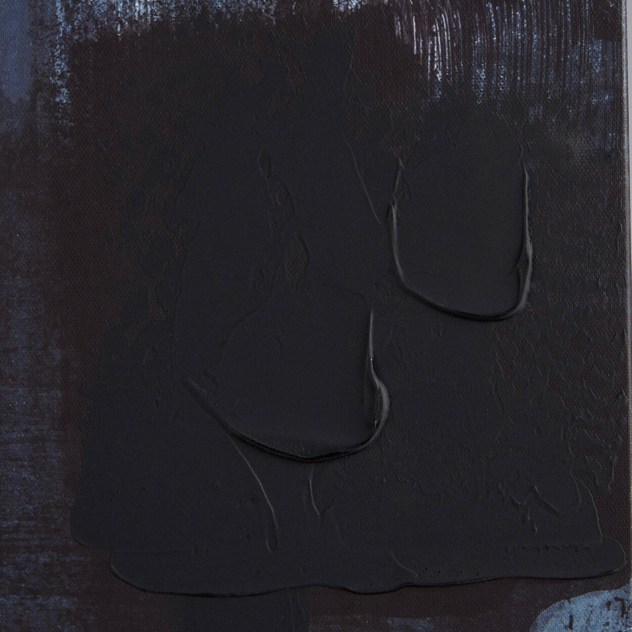 Tableau imprimé abstrait avec embellissements au gel