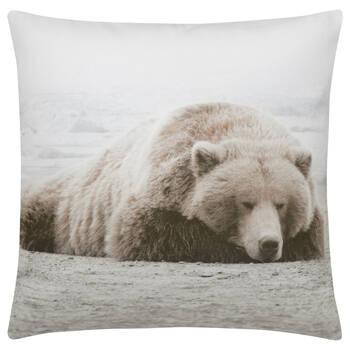 """Sleepy Bear Decorative Pillow 19"""" x 19"""""""