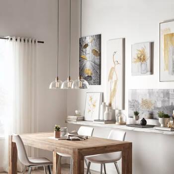 Chaise de salle à manger en similicuir et en chrome