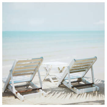 Zen Beach Printed Canvas