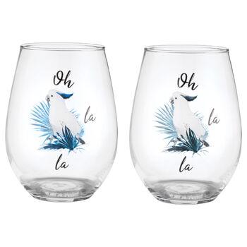 Set of 2 Oh La La Glasses