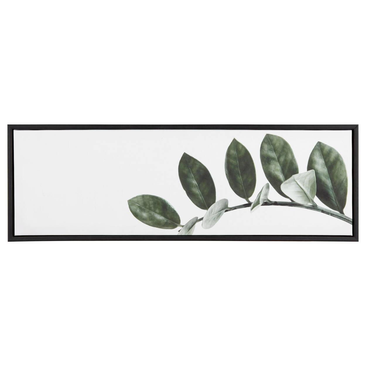 Cadre imprimé feuilles sur vigne