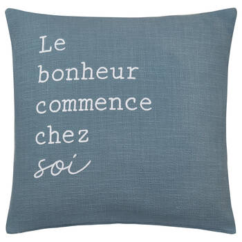 "Taipa Decorative Pillow with Typography 19"" x 19"""