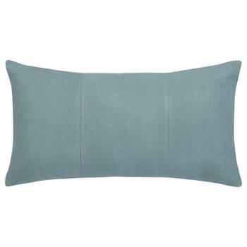 """Grigio Faux Suede Decorative Lumbar Pillow 14"""" X 26"""""""