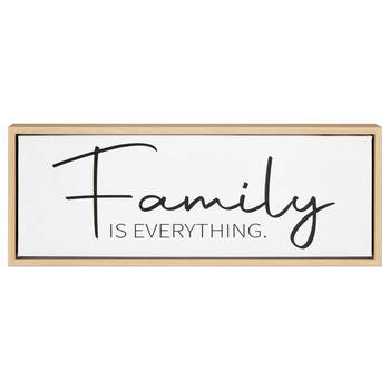 Family Is Everything Typography Framed Canvas