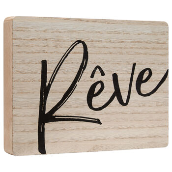 Decorative Wood Plaque Rêve