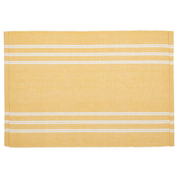 Set of 4 Ribbed Cotton Placemat