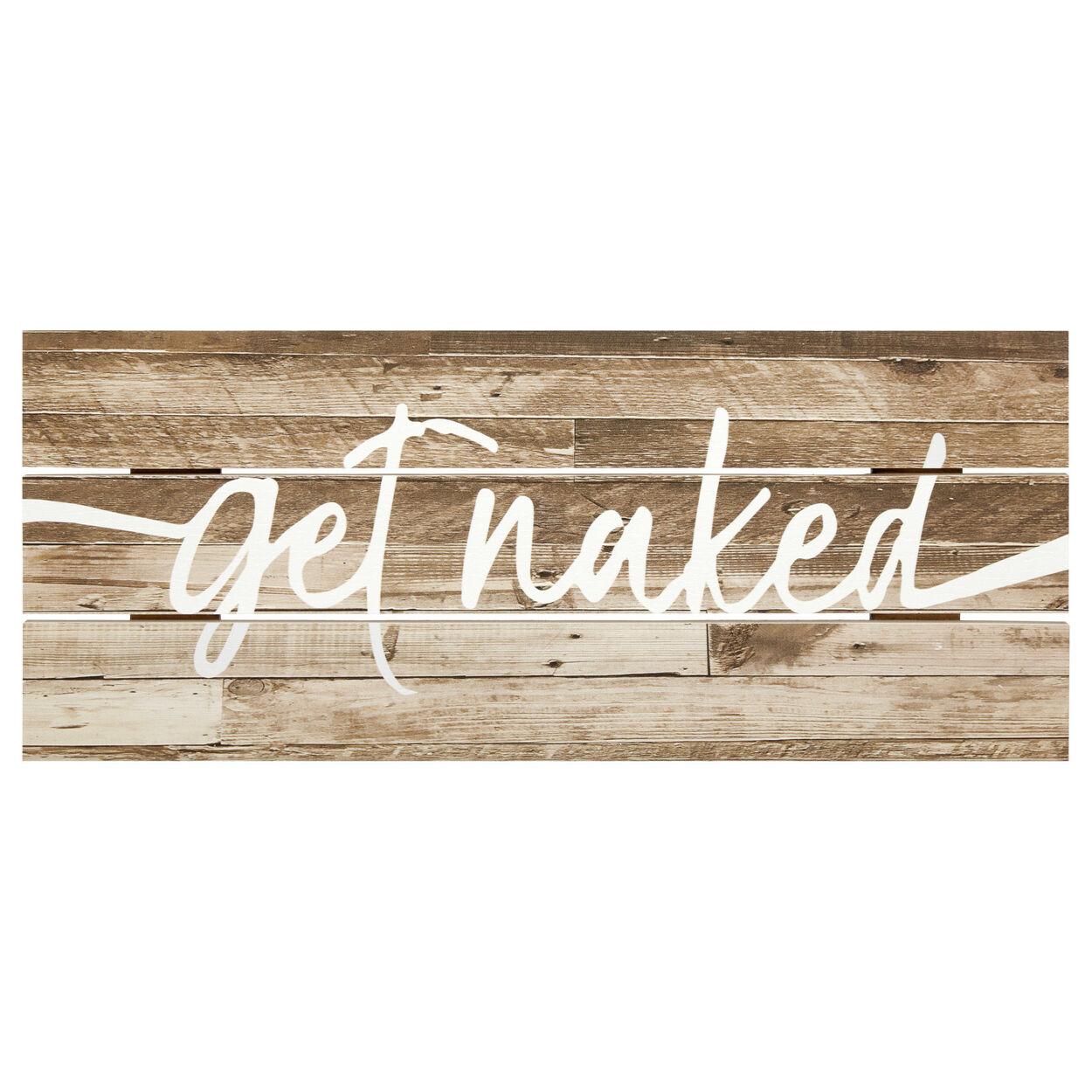 Get Naked Wood Wall Art