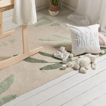 Tapis pour bébés avec feuilles