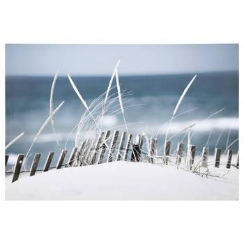Sandy Blue Beach Printed Canvas