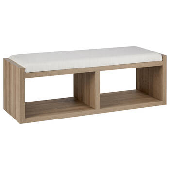 Wood and Fabric Bench