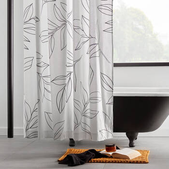 Talaia Line Leaves Shower Curtain