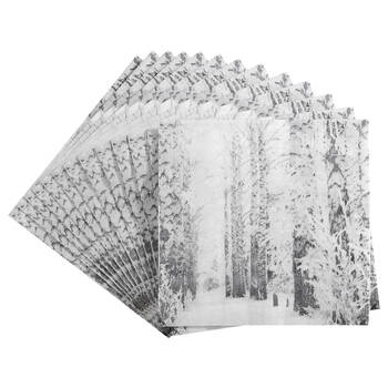 Pack of 20 Snowscape Table Napkins