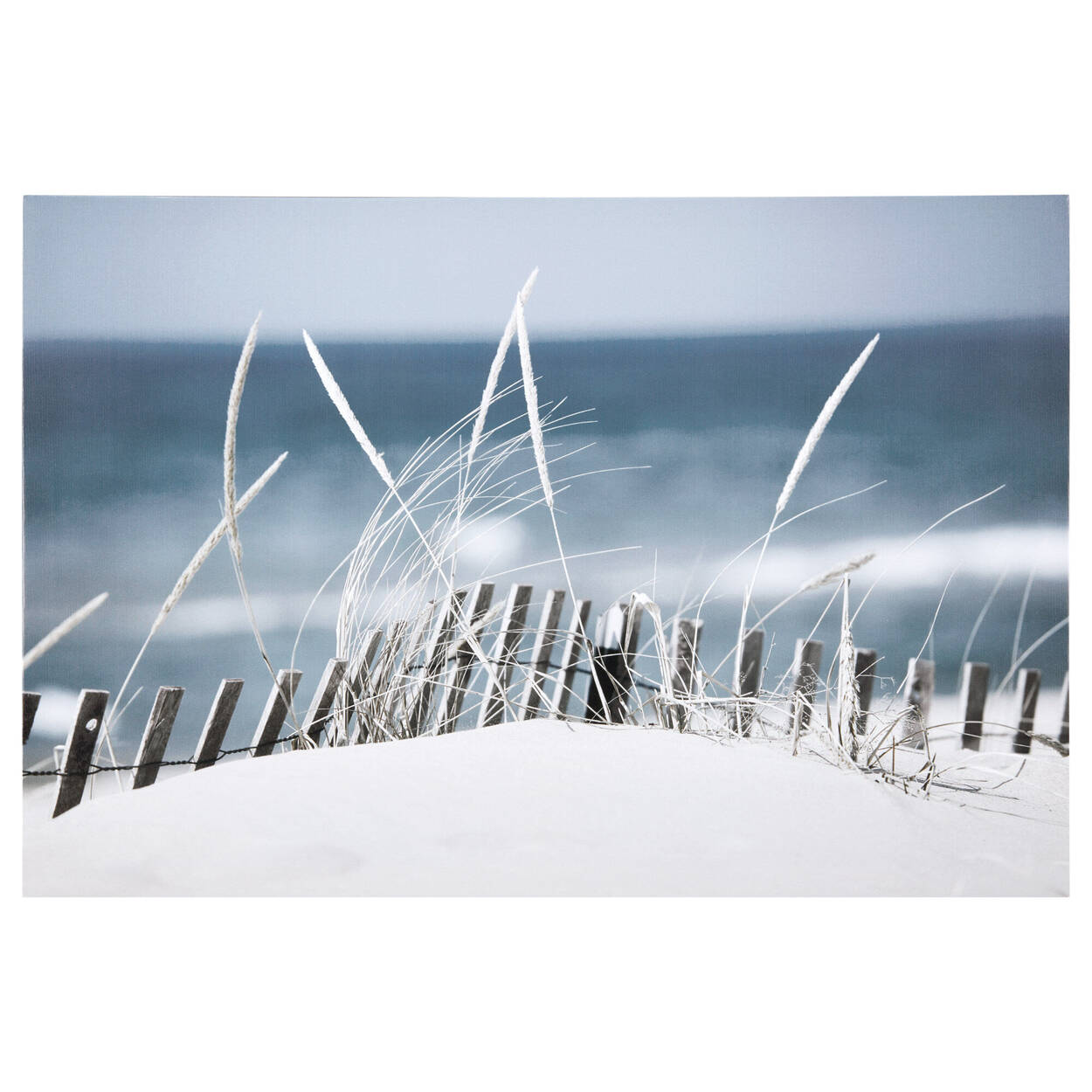 Sandy Blue Beach Printed Canvas