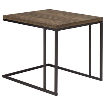 Set of 2 Side Tables with Iron Legs