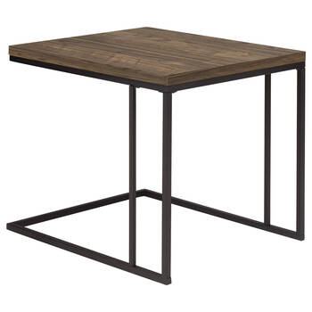 Set of 2 Coffee Tables with Iron Legs